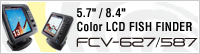"5.4"" Color LCD FISH FINDER FCV-627/8.4"" Color LCD FISH FINDER FCV-587"