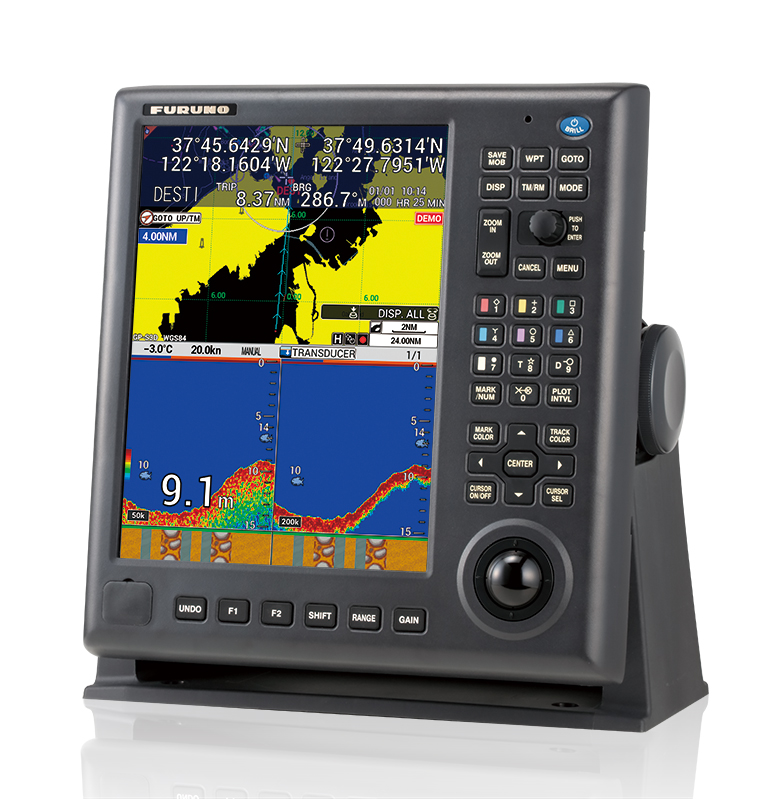 Gps waas color chart plotter with fish finder gp 3700f gps chart
