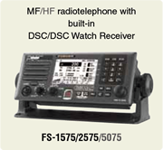 MF/HF radiotelephone with built-in DSC/DSC Watch Receiver FS-1575/2575/5075