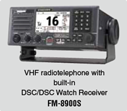 VHF radiotelephone with built-in DSC/DSC Watch Receiver FM-8900S