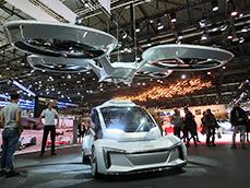 Geneva show in Switzerland. Flying cars and MaaS (Mobility as a Service) were hot topics.