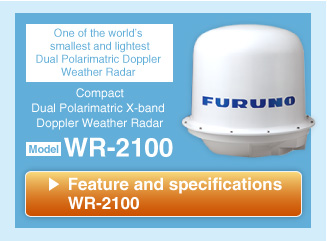 Compact Dual Polarimatric X-band Doppler Weather Radar WR-2100