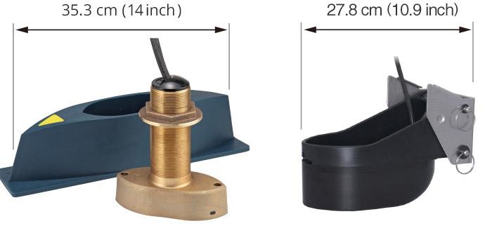Thru-hull Transducer B54 (SS54) and Transom mount Transducer TM54